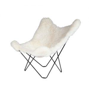 Mariposa Chair Shorn White