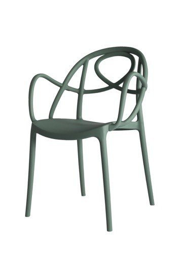 etoile chair green P met armleuning