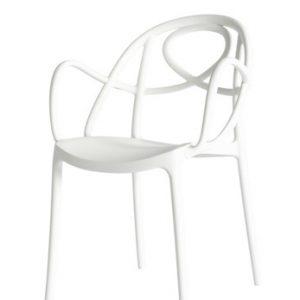 etoile chair white P met armleuning
