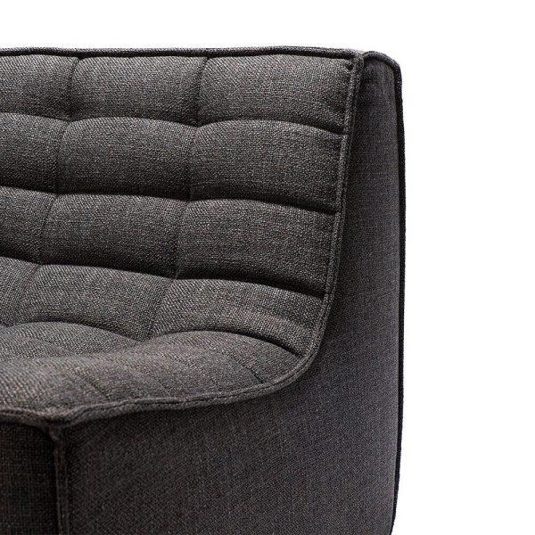Sofa N701 1 seat dark grey