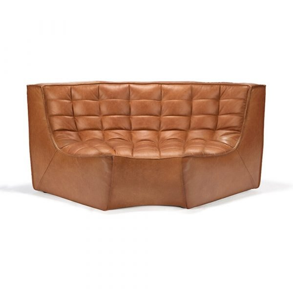 Sofa N701 round corner old saddle
