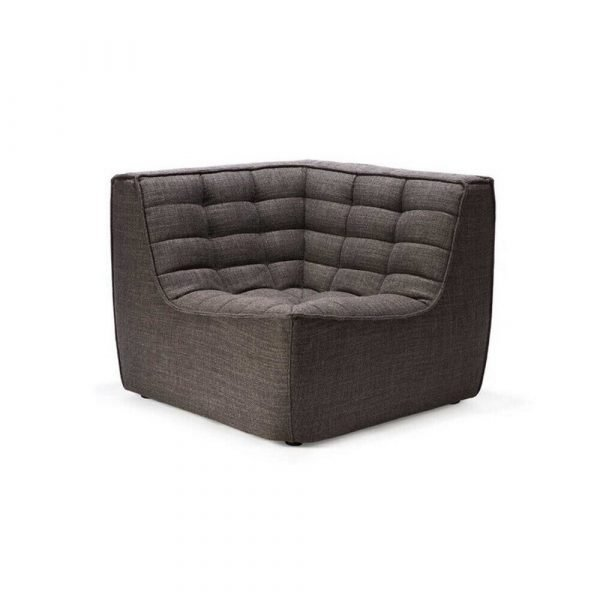 Sofa N701 corner dark grey