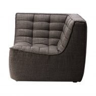 Sofa N701 corner dark grey