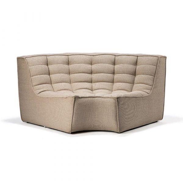 Sofa N701 round corner beige