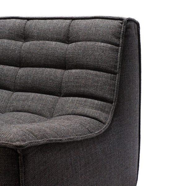 Sofa N701 2 seat dark grey