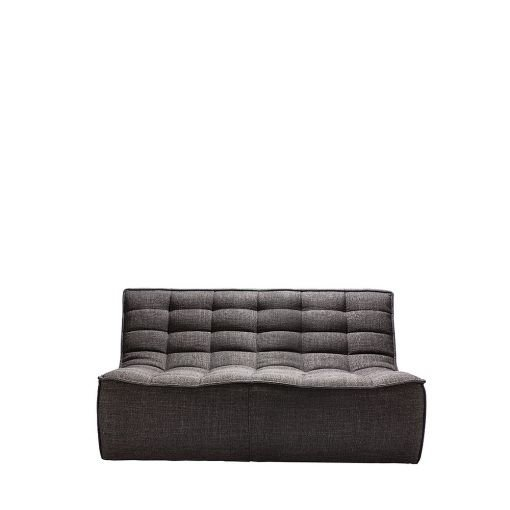 Sofa N701 2 seater dark grey ethnicraft