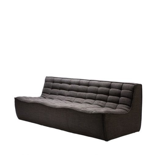 Sofa N701 3 seater dark grey ethnicraft 3