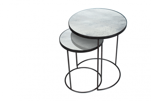 20723 Clear Nesting side table set