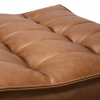 20081 Sofa N701 - footstool - nut - old saddle 70x70x43_det