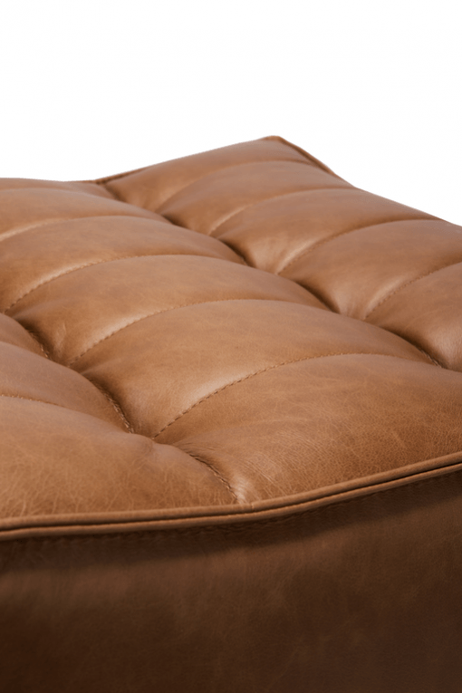 20081 Sofa N701 - footstool - nut - old saddle 70x70x43_det