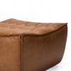 20081 Sofa N701 - footstool - nut - old saddle 70x70x43_det2