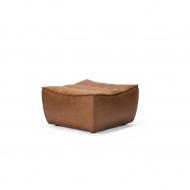 20081 Sofa N701 - footstool - nut - old saddle 70x70x43_p