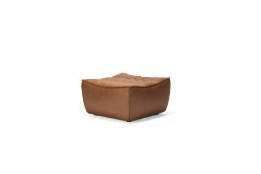 20081 Sofa N701 - footstool - nut - old saddle 70x70x43_p