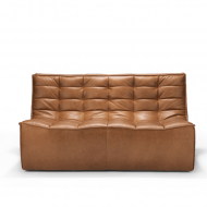 20083 Sofa N701 - 2 seater - nut - old saddle 140x91x76_f