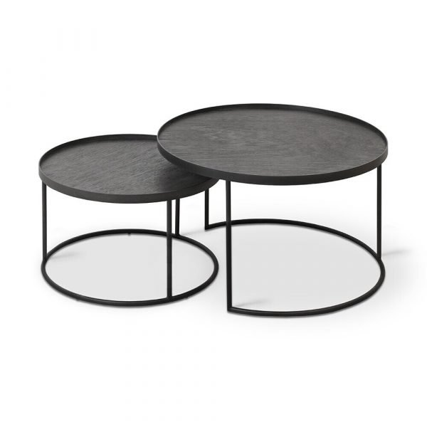 Round Tray Coffee Table Set