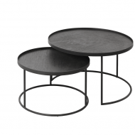 Round tray table set_low_p (without trays)