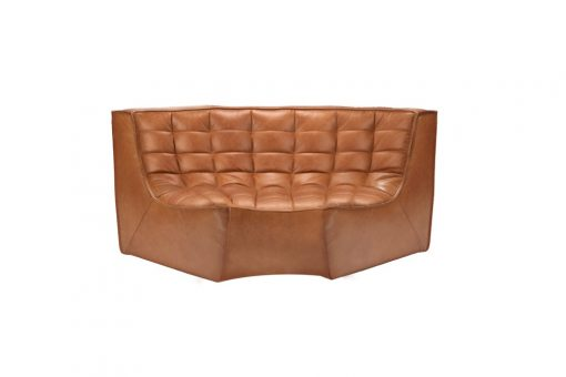 20079 N701 sofa - round corner - nut - old saddle