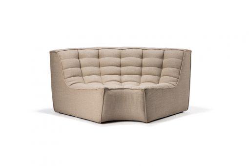 20212 N701 sofa - round corner - beige front