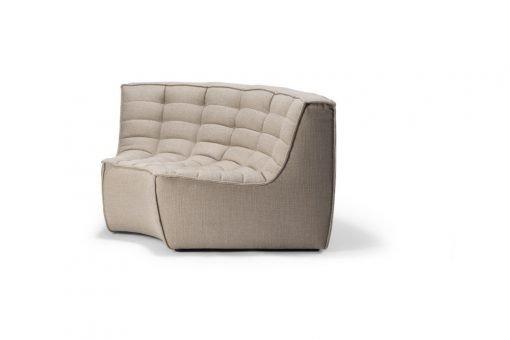 20212 N701 sofa - round corner - beige_side