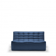 sofa - 2 seater - blue