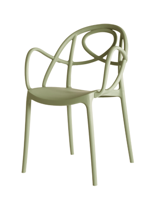 Etoile Chair Apple Green Arm