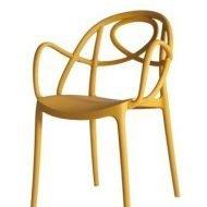 Tuinstoel etoile chair mosterd P met armleuning