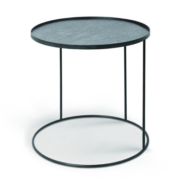 Round tray side table - large