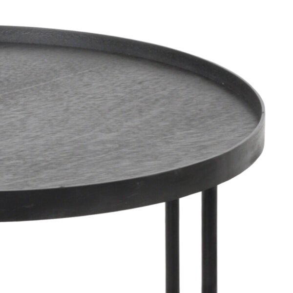 Ethnicraft   Round tray side table - small