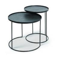 Ethnicraft | Round tray side table - set van 2