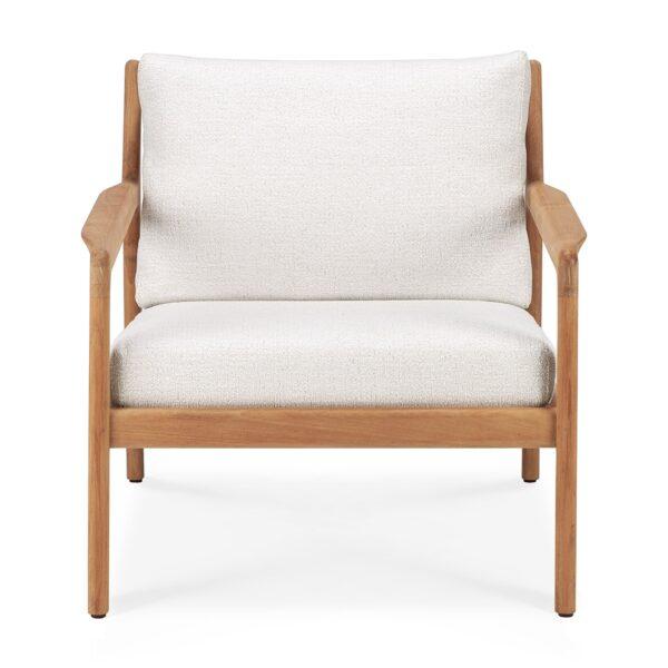 Tuinbank Teak Jack - lounge chair - white outdoor