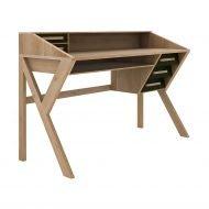 Oak Origami desk - black Ethnicraft